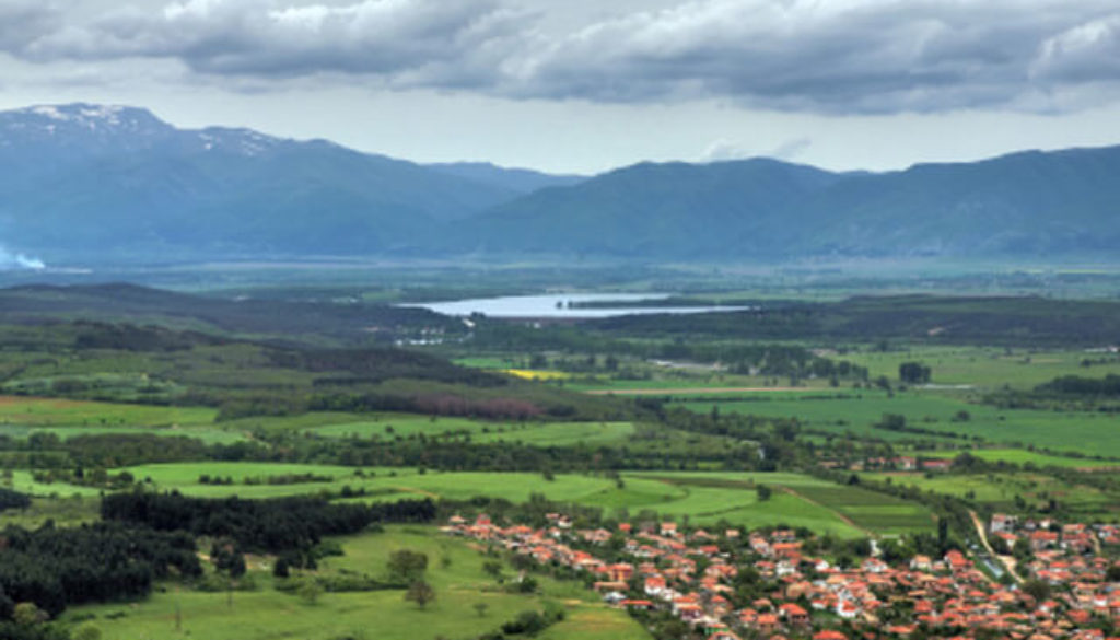 View towards Koprinka dam in the Rose Valley