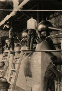 Rose distillery in the early 20th century in Bulgaria