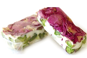 Food from roses - nougat