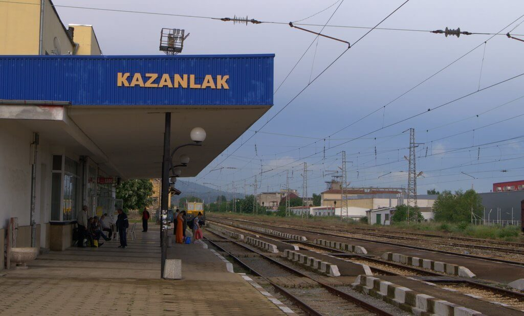 View towards the Kazanlak train station looking towards East