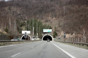 Bulgarian Highway and two tunnels