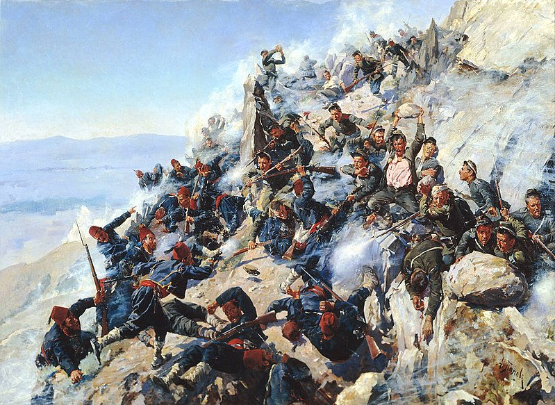"""The Defence of the Eagle's Nest"", Alexey Popov, 1893"