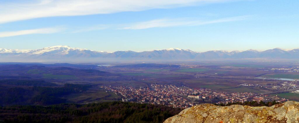 veiw from the Megalit - thracian sanctuary