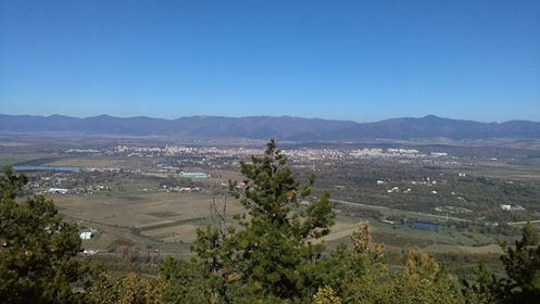 View from the Thracian sanctuary near Buzovgrad