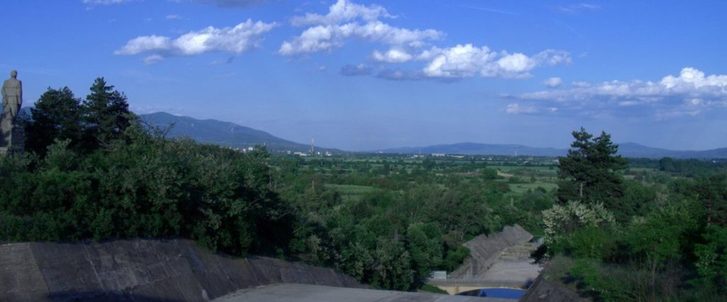 green scenery towards Kazanlak as seen from Koprinka dam