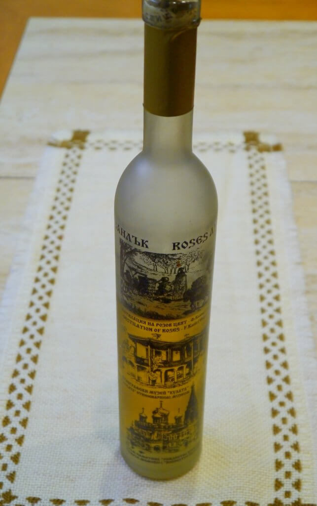 Bulgarian Rakia made from rose petals from the fragrant Rosa Damascena