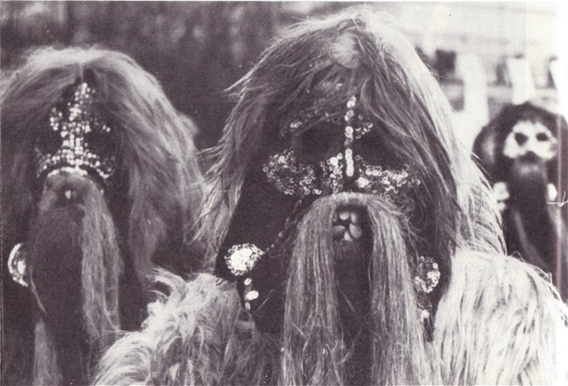 Kukeri masks, near Zidarovo Village
