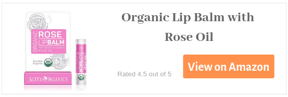Organic Lip Balm with Rose Oil