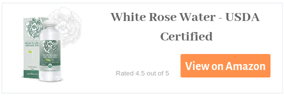 White rose water - organic usda approved